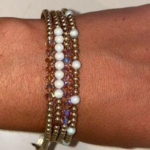 Jewelry - Sterling Silver(gold plated) Swarovski bracelets